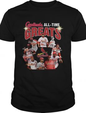 St. Louis Cardinals all time great players signatures shirt