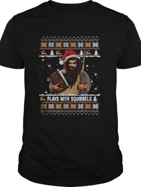 Plays with squirrels the secret life Christmas shirt