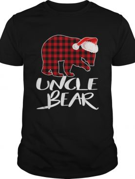 Hot Uncle BEAR Red Plaid Christmas Pajama Matching Family Gift shirt