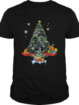 Seattle Seahawks Football Players Signatures Tree Christmas shirt
