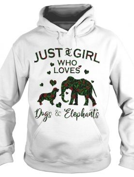 Just A Girl Who Loves Dog And Elephants Shirt