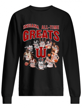 Indiana all time greatest players signatures shirt