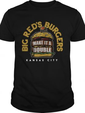 Big red's burgers make it a Double Kansas City shirt