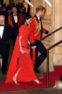 Meghan Markle is Radiant in Red Caped Gown at Mountbatten Festival of Music1