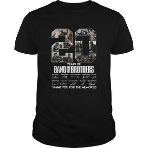 20 Years Of Band Of Brothers Thank You For The Memories Signatures  Unisex