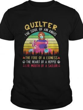 Quilter the soul of an angel the fire of a lioness the heart of a hippie the mouth of a sailor mask