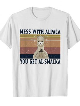 Sheep mess with alpaca you get al-smacka vintage shirt