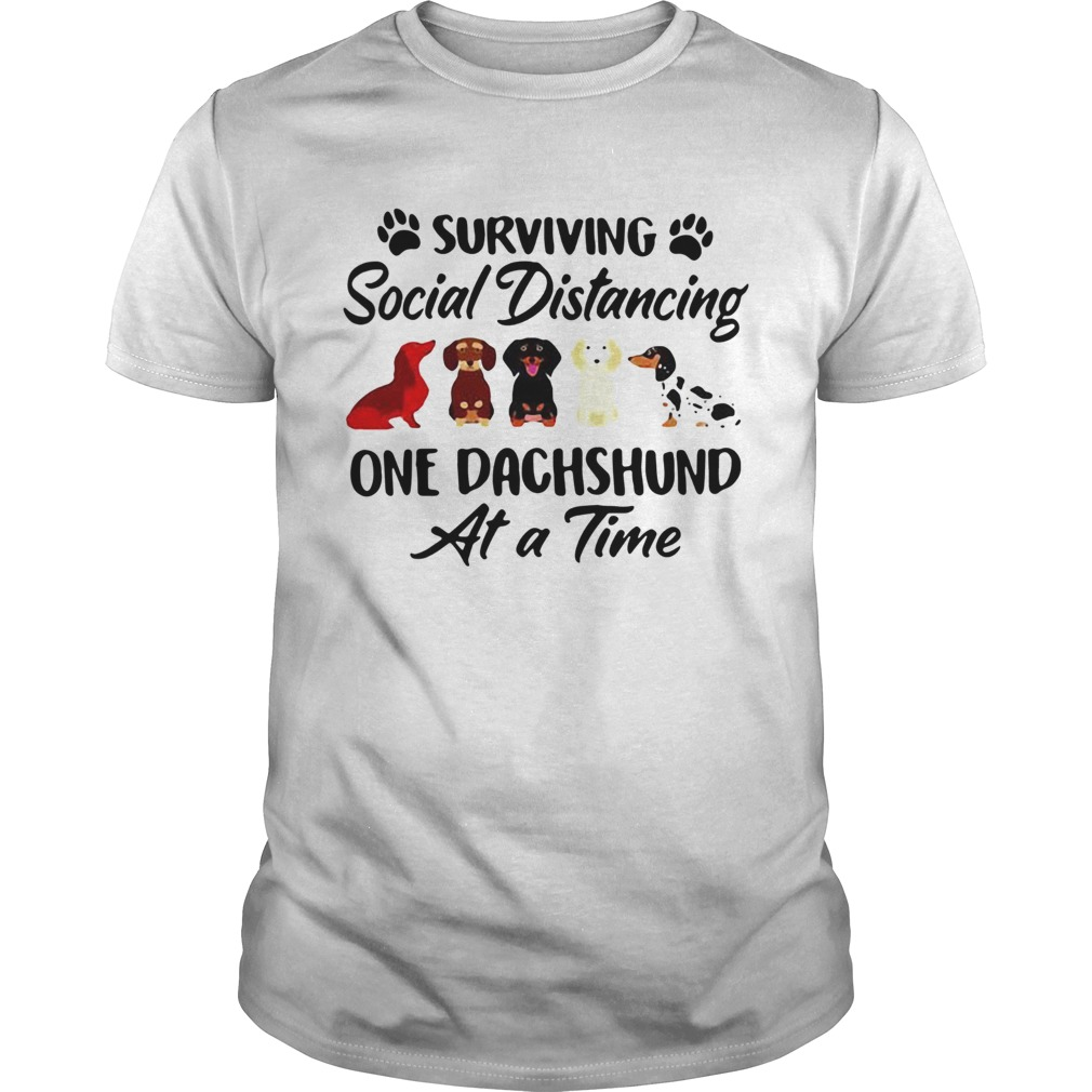 Surviving Social Distancing One Dachshund Dog  Unisex