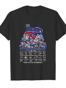 The Buffalo Bills 61th Anniversary Thank You For The Memories Signature shirt