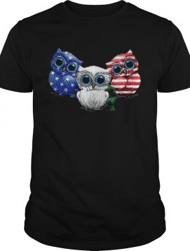 4th July Three Owl American Flag shirt