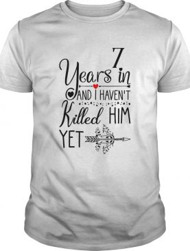 7th Wedding Anniversary For Her 7 Years Of Marriage shirt