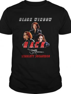 Black Widow Back Scarlett Johansson Signature shirt