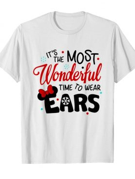 Disney Minnie Mouse It's The Most Wonderful Time To Wear Ears shirt
