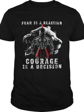 Fear Is A Reaction Courage Is A Decision Vintage shirt