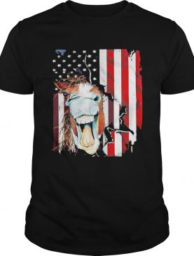 Horse American flag veteran Independence Day shirt