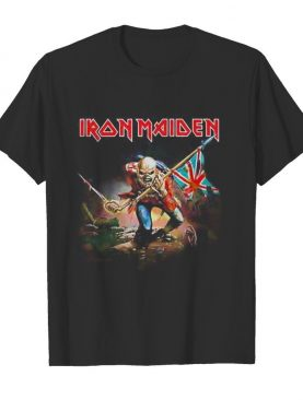 Iron maiden the trooper with flag shirt