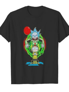 Joker rick and morty georgia pennywise holding balloon shirt