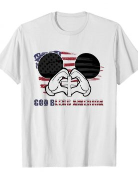Mickey mouse god bless america flag independence day shirt