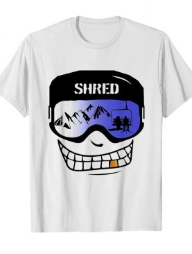 Shred Snowboard Shred Face color shirt