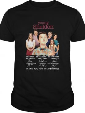 Young Sheldon 20172020 Signature Thank You For The Memories shirt
