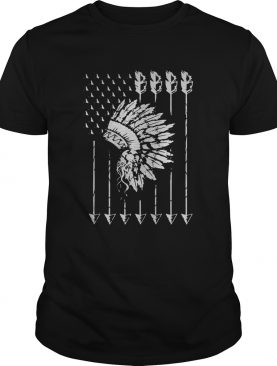 Cool Native American Arrow And Teepee Flag shirt