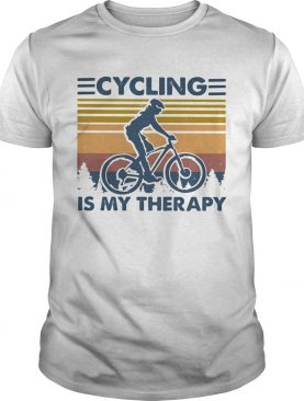 Cycling is my therapy vintage retro shirt