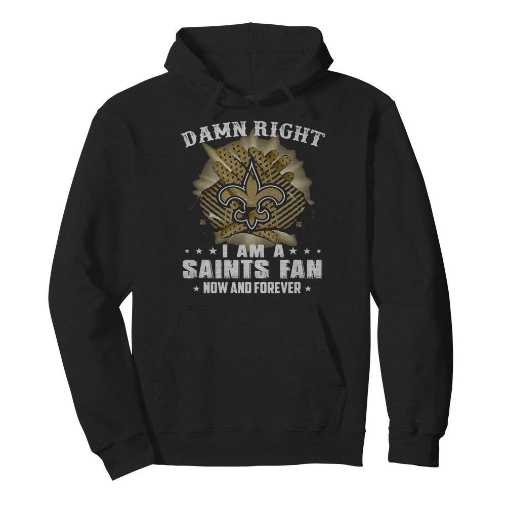 Damn right I am a new york giants fan now and forever stars  Unisex Hoodie