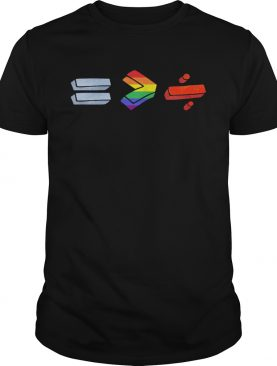 Equality bigger than division lgbt shirt