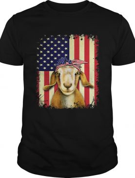 Goat american flag independence day shirt