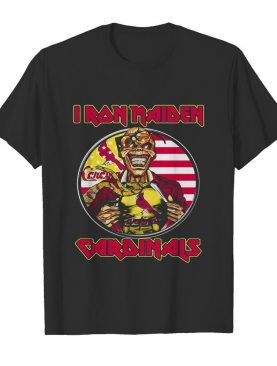 Iron maiden st. louis cardinals american flag independence day shirt