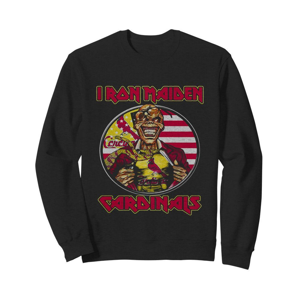 Iron maiden st. louis cardinals american flag independence day  Unisex Sweatshirt