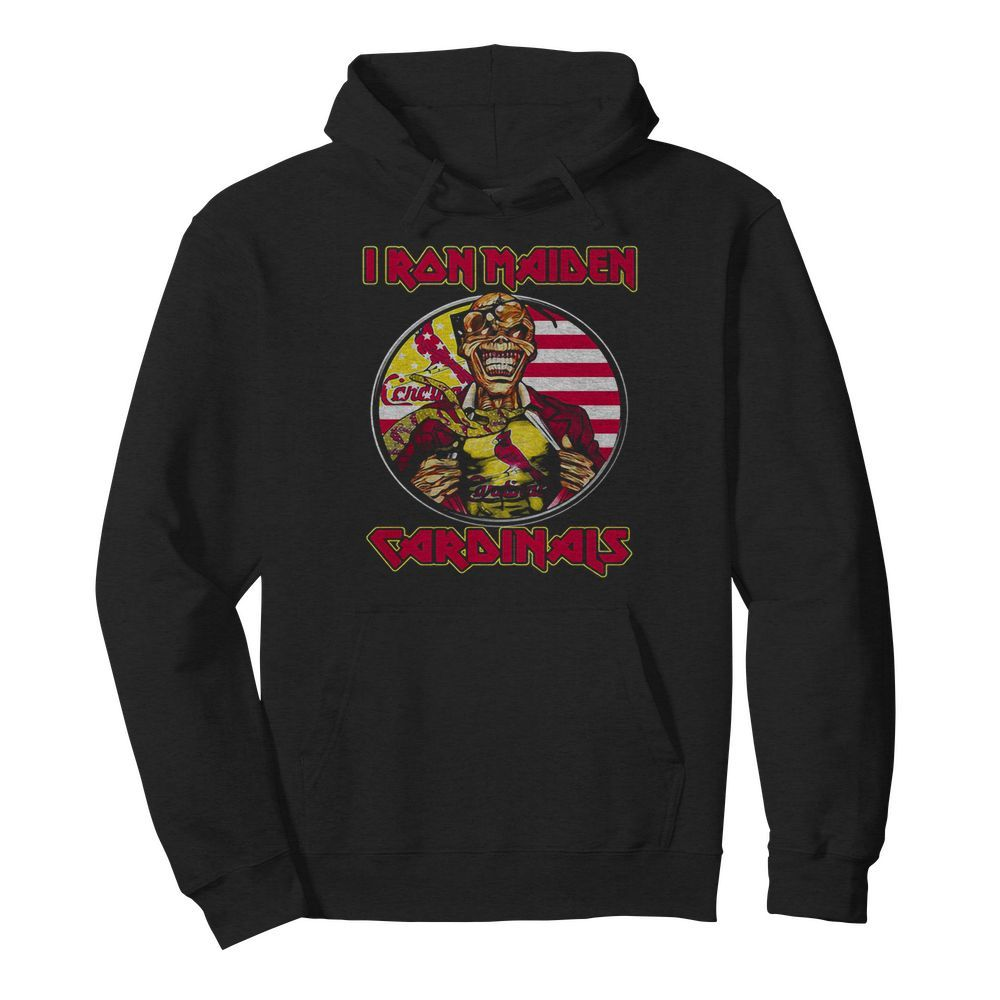 Iron maiden st. louis cardinals american flag independence day  Unisex Hoodie