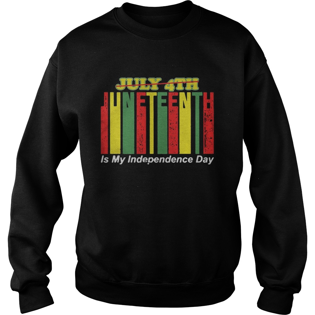 Juneteenth Is My Independence Day Not July 4th  Sweatshirt