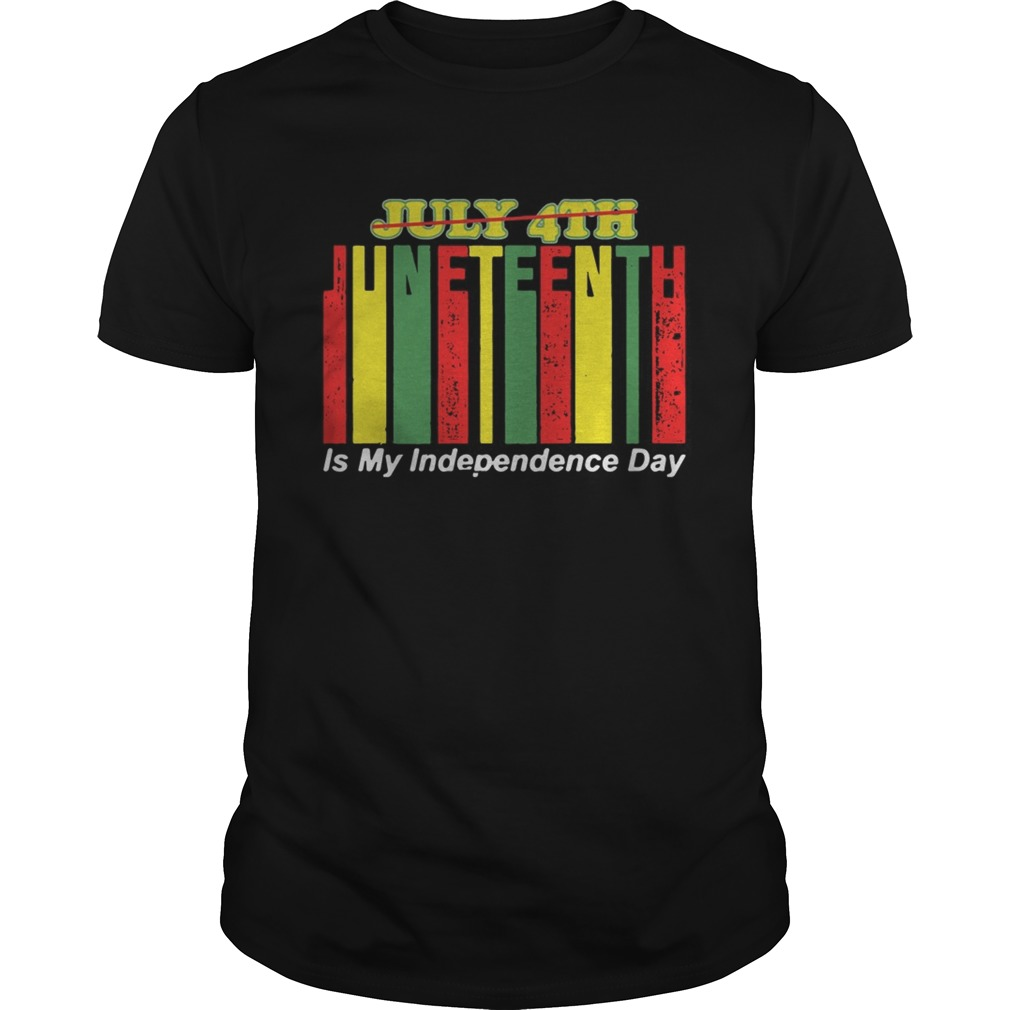 Juneteenth Is My Independence Day Not July 4th  Unisex