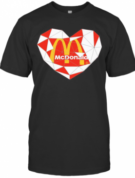 Mcdonald'S Logo Heart Diamond T-Shirt