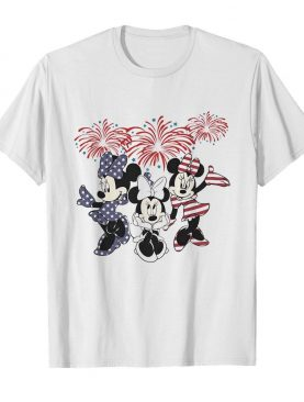 Minnie mouse firework american flag independence day shirt