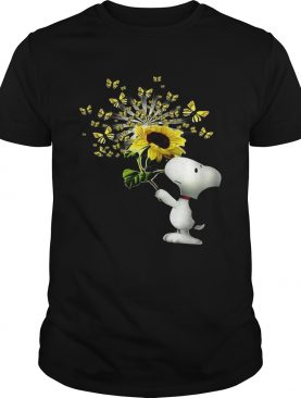 Snoopy Sunflower And Butterfly shirt