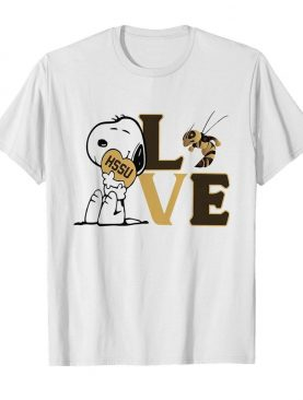 Snoopy love HSSU harris stowe state university athletics heart shirt