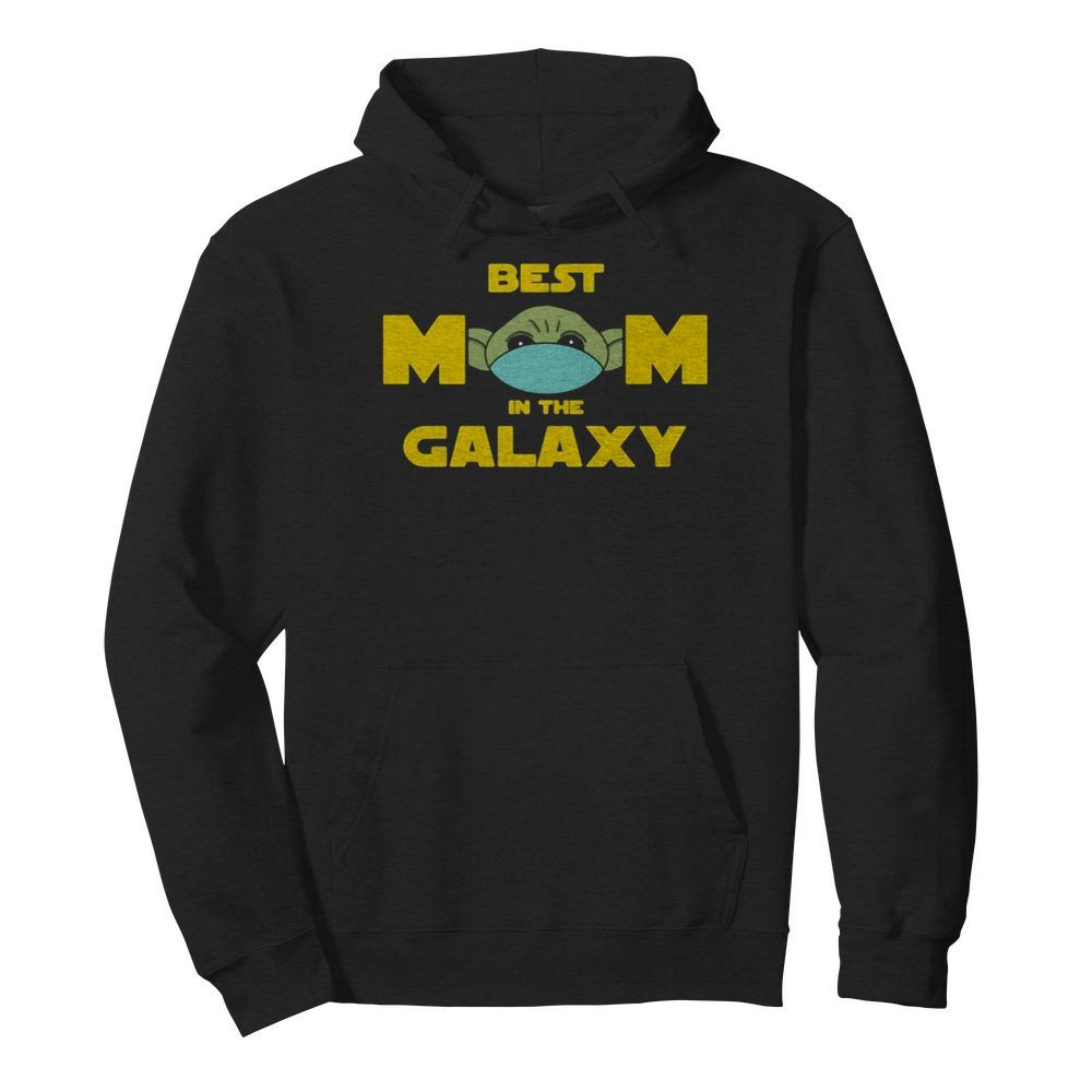 Star wars baby yoda mask best mom in the galaxy  Unisex Hoodie