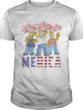 The simpsons merica firework american flag independence day shirt