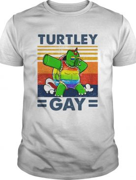 Turtley Gay Turtle Dabbing LGBT Vintage shirt