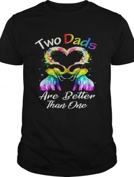 Two dad are better than one heart elephant lgbt shirt