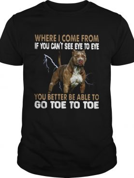 Where I Come From If You Cant See Eye To Eye You Better Be Able To Go Toe To Toe shirt