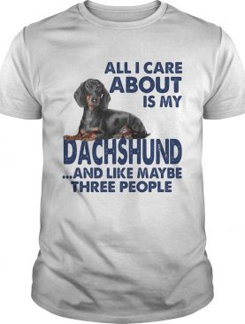 All i care about is my dachshund and like maybe three people shirt