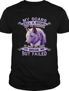 My Scars Tell A Story To Break Me But Failed shirt