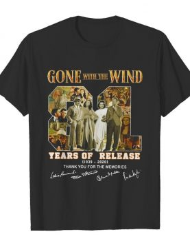 Gone with the Wind 81 years of release 1939 2020 signatures thank you for the memories shirt