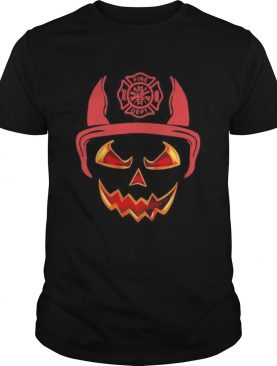 Halloween Pumpkin Firefighter Fireman Fire shirt