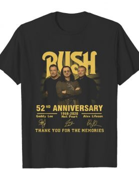 Rush 52nd Anniversary 1968 2020 Thank You For The Memories Signatures shirt