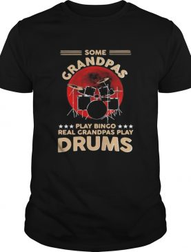 Some grandpas playing bingo real grandpas play drums sunset shirt