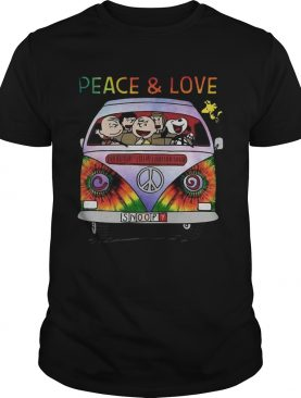 The Peanuts Hippie Driver Peace And Love shirt